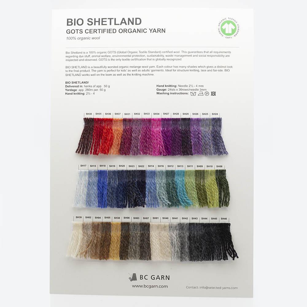 BC Garn Farbkarten von BC Garn Bio Shetland