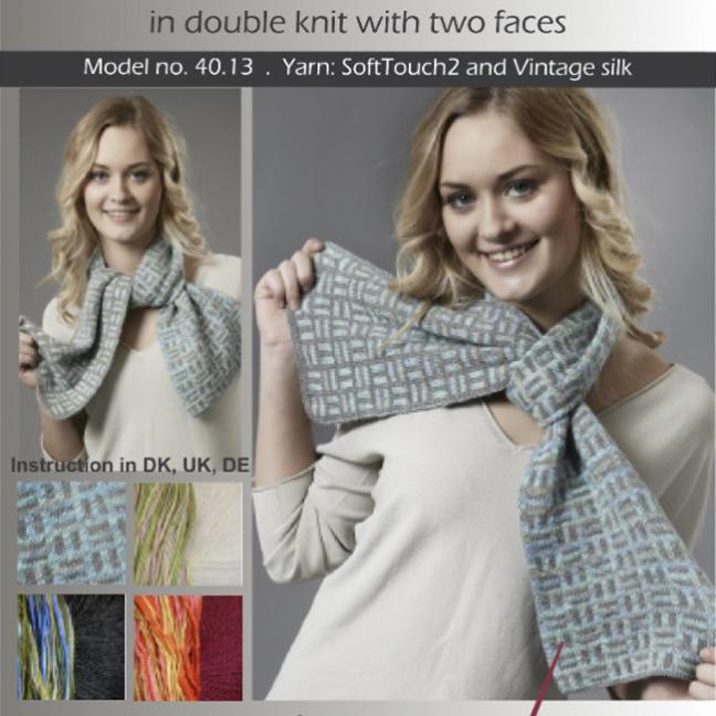 Karen Noe Design Kit Domino Scarf 40.13 weiß/gelbgrün