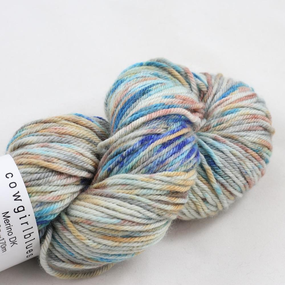Cowgirl Blues Merino Twist Flerfarvet Shorebreak dusty