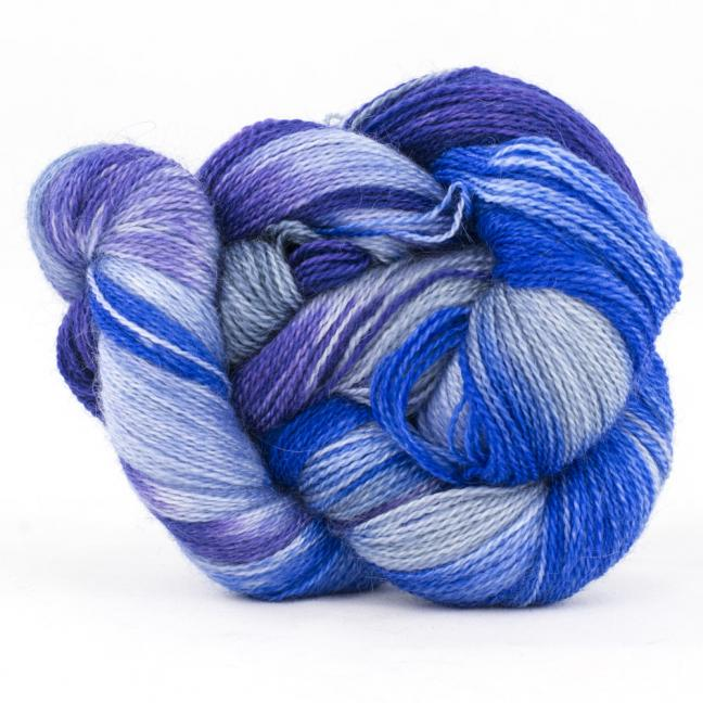 Cowgirl Blues Flerfarvet 2 trådet Mohair Uld Lace CobaltAirforceBlueberryIcedberry