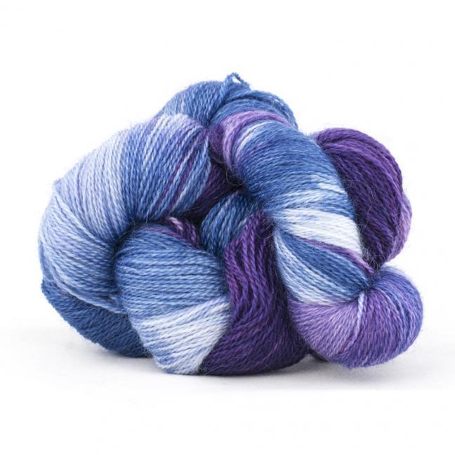 Cowgirl Blues Flerfarvet 2 trådet Mohair Uld Lace VioletLilacIcedberryTanzanite