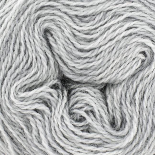 Cowgirl Blues Ensfarvet 2 trådet Mohair Uld Lace Silver Fox