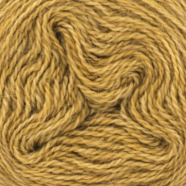 Cowgirl Blues Ensfarvet 2 trådet Mohair Uld Lace Rust