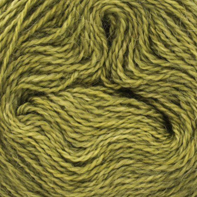 Cowgirl Blues Ensfarvet 2 trådet Mohair Uld Lace Olive