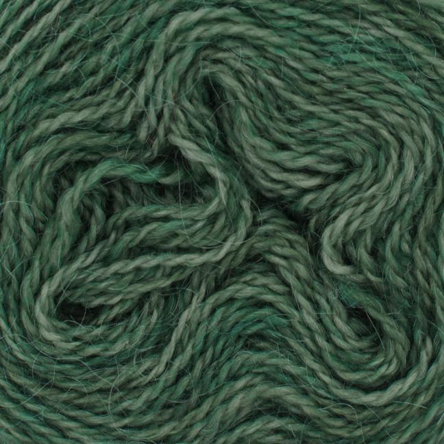 Cowgirl Blues Ensfarvet 2 trådet Mohair Uld Lace Rainforest