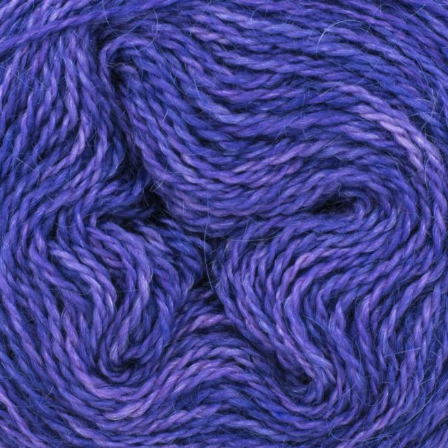 Cowgirl Blues Ensfarvet 2 trådet Mohair Uld Lace Blueberry