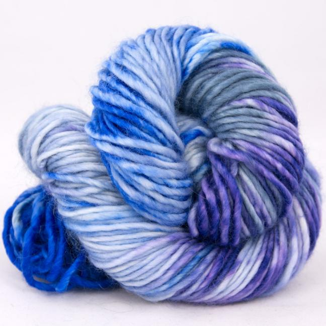 Cowgirl Blues Aran Single Flerfarvet  CobaltAirforceBlueberryIcedberry