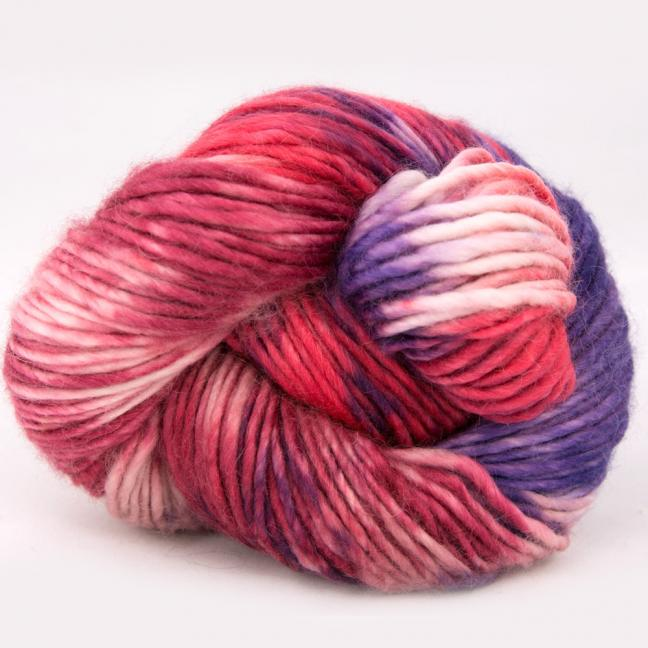 Cowgirl Blues Aran Single Flerfarvet  LipstickFadedroseVioletDustyrose