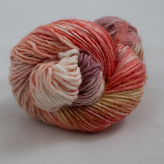 Cowgirl Blues Aran Single Flerfarvet  RubygrapeCoralCaramelFadedrose