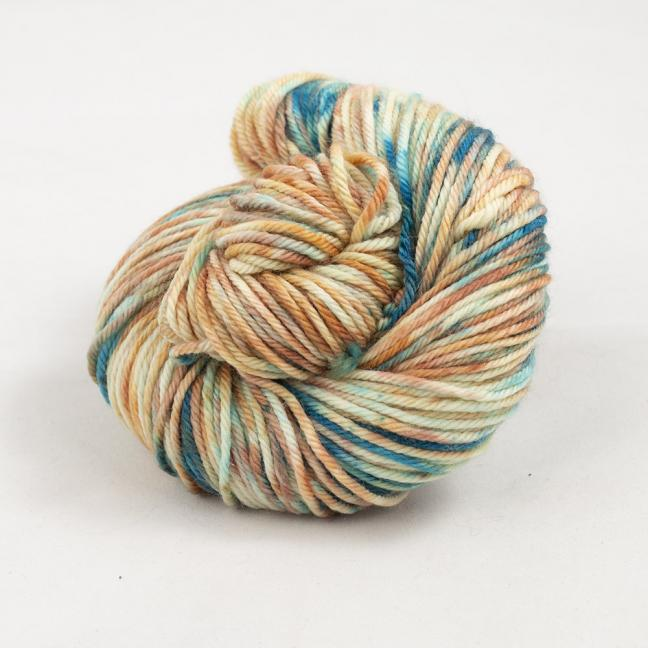 Cowgirl Blues Merino DK Flerfarvet 100g Shorebreak Sunset
