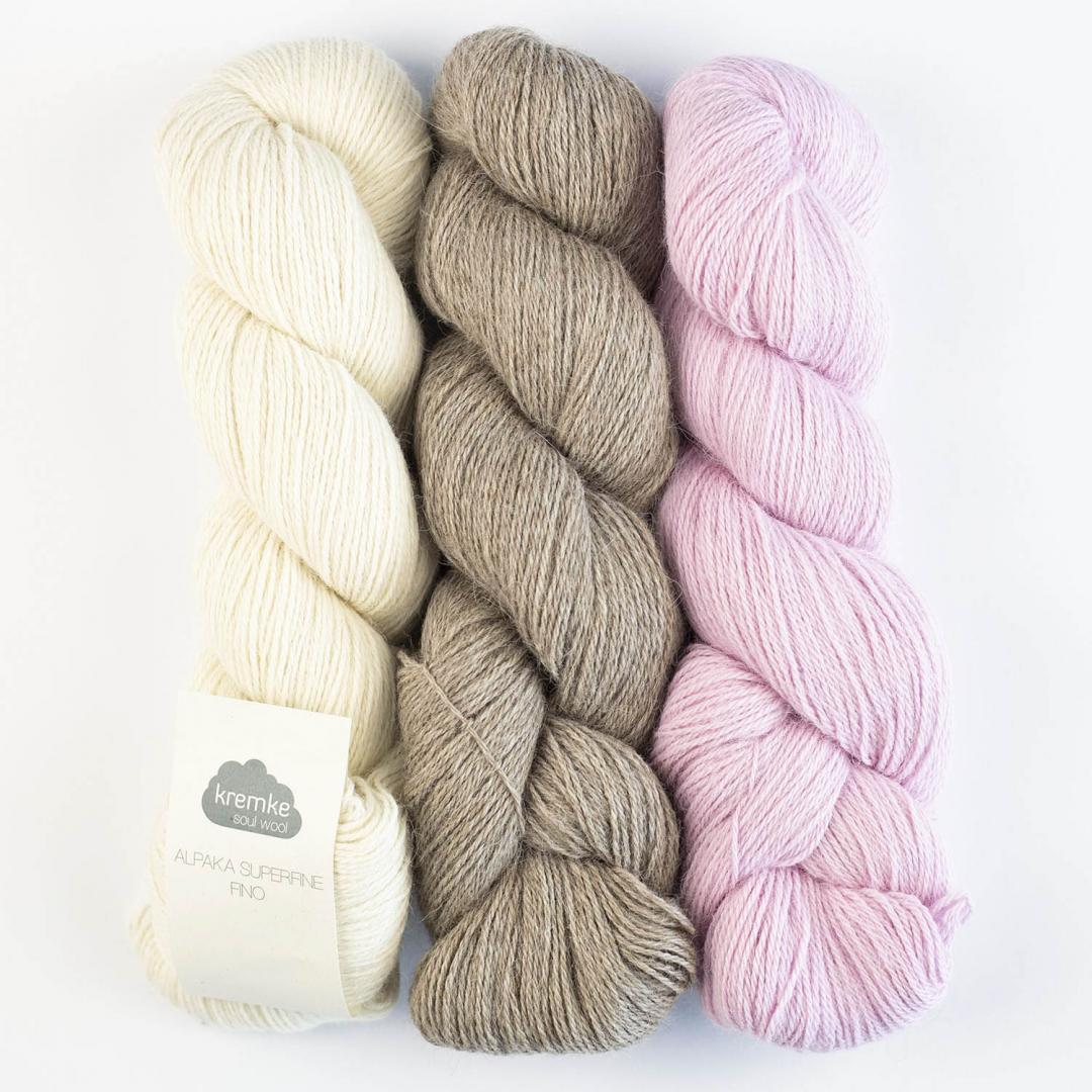 Kremke Soul Wool Alpaca Superfine Fino (100g)  Naturweiß