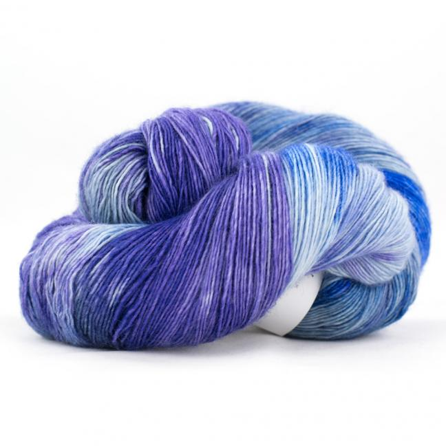Cowgirl Blues Merino Single Lace Flerfarvet   CobaltAirforceBlueberryIcedberry
