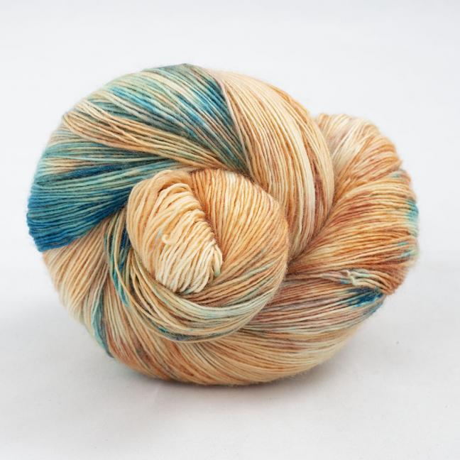 Cowgirl Blues Merino Single Lace Flerfarvet  Shorebreak Sunset